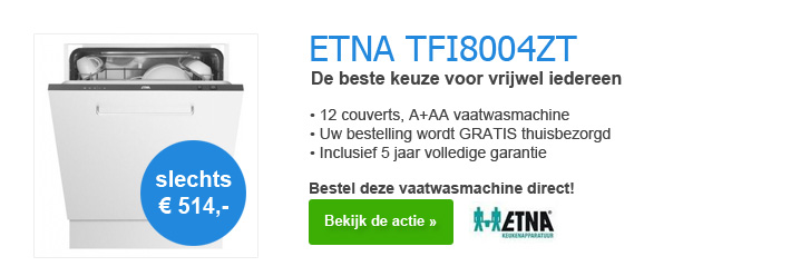 ETNA TFI8004ZT Vaatwasmachine